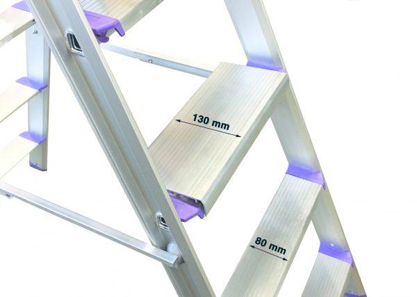 Rise-Tec Stufentritt doppelseitig, 405 mm Breite, RedLabel