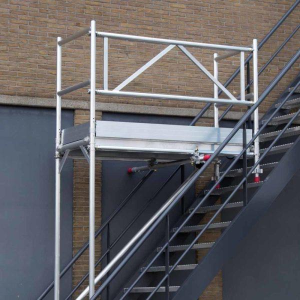 AC Steigtechnik Treppenhaus-Gerüst, Treppen-Gerüst 4,10 bis 6,10 m, erweiterbar