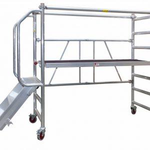 JUMBO Rollgerüst, Zimmerfahrgerüst mit Treppe und Geländer