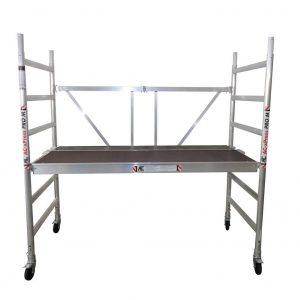 """AC Steigtechnik """"xPress PRO-M"""" Zimmerfahrgerüst, breite Plattform, bis 3,0 m Arbeitshöhe erweiterbar bis 7,80 m, nach DIN EN 1004 & 1298"""