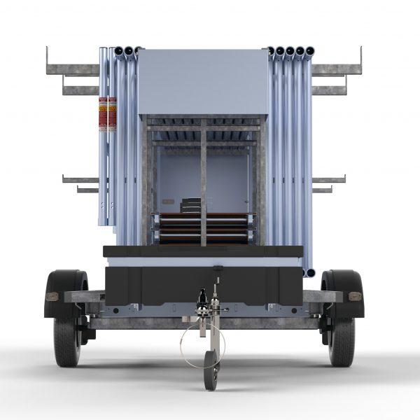 "Gerüstanhänger ""X-Safe 250"" abschließbar inkl. Gerüst bis 12,30 m, 135er Rahmen"