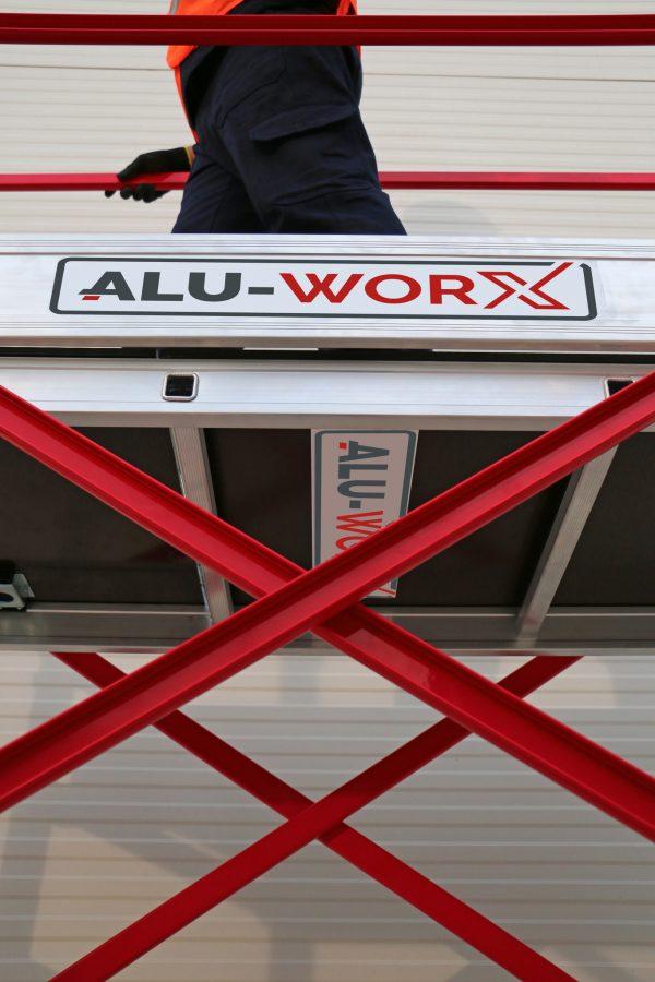 "ALU-WORX Leiter-Gerüst, Kleingerüst ""STELLA"" Gelenk-Gerüst"