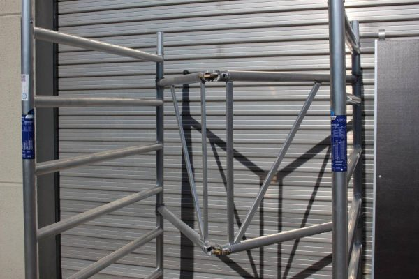 "AC Steigtechnik ""xPress PRO-L"" Zimmerfahrgerüst XL-Knick, ZiFa, 3,9 m, extra große Arbeitsfläche"