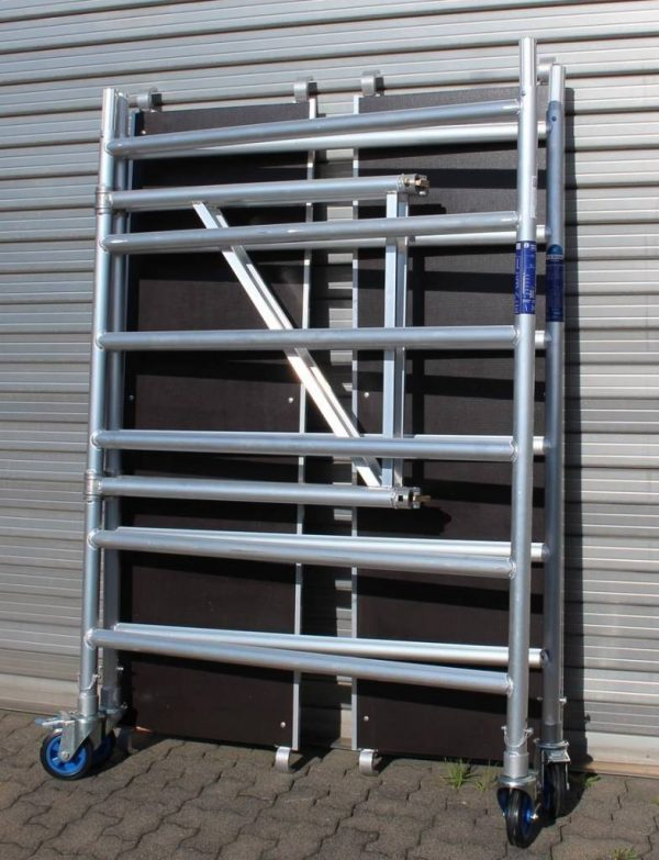 "AC Steigtechnik ""xPress PRO-L"" Zimmerfahrgerüst XL, ZiFa, 3,85 m, extra große Arbeitsfläche"