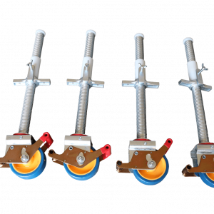 4 Stück Gerüstrollen 125 mm, universal kompatibel