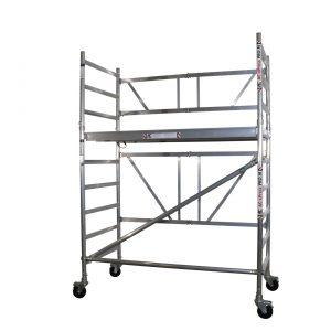 """AC Steigtechnik """"xPress PRO-M"""" Zimmerfahrgerüst, bis 3,85 m Arbeitshöhe, breite Plattform, nach DIN EN 1004 & 1298"""