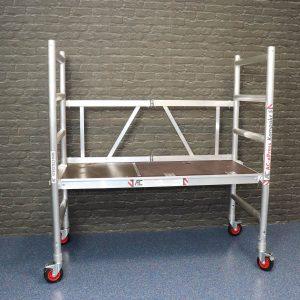 AC Steigtechnik xPress Kompakt-S, Zimmerfahrgerüst, Rollgerüst mit 145 cm Plattformlänge, 3,0 – 7,8 m Arbeitshöhe