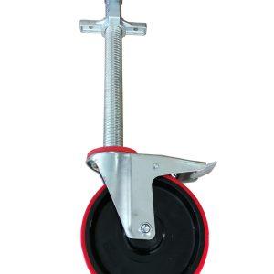 1 Stück Gerüstrolle 200 mm mit Stahlspindel und Zentrier-Hülse