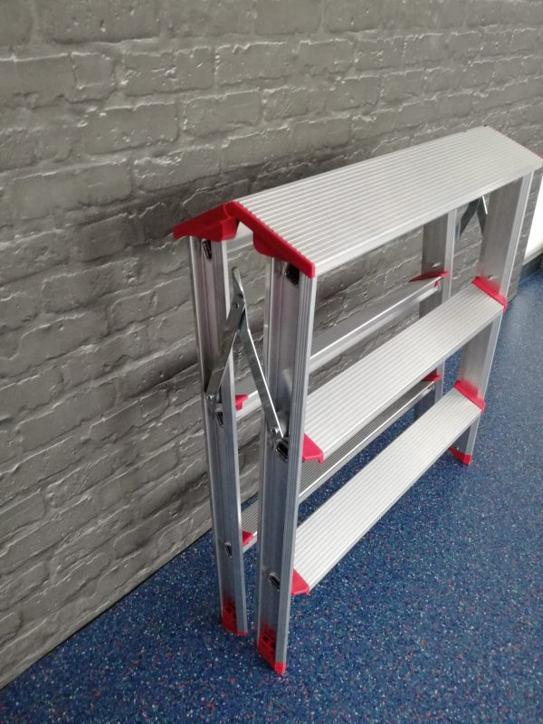 Rise-Tec Stufentritt doppelseitig, 650 mm Breite, RedLabel