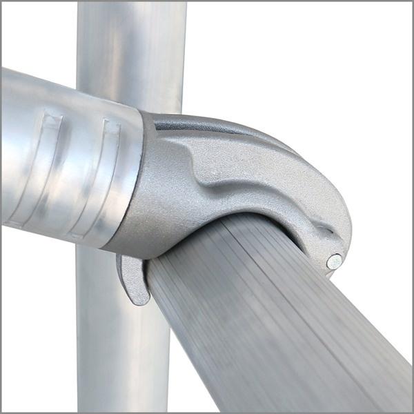 ALU-WORX PRO Tube-S Standard, 185 x 75 Rollgerüst von 4,20 m – 10,0 m Arbeitshöhe