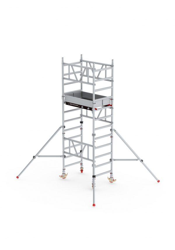 ALTREX Mi-TOWER: Alu-Rollgerüst 75-120 Profi-Gerüst DIN-EN 1004 & 1298, TÜV/GS