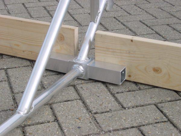 CUSTERS Dachrand-Sicherung mit Fußbrett, 3-teilig, Flachdach-Absturzsicherung, DIN EN 13 374, Schutzklasse A