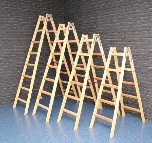 JUMBO Holzleiter 4 – 8 Sprossen