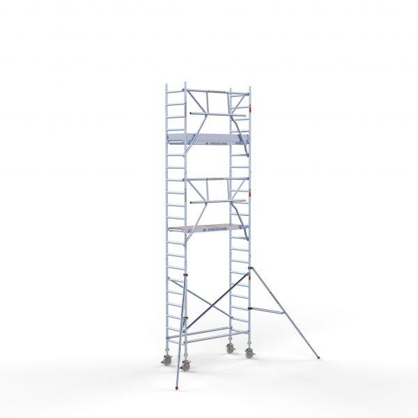 """AC Steigtechnik """"PRO-S 200"""" mit Montageschutzgeländer, Profi-Gerüst, von 4,3 – 10,3 Meter Arbeitshöhe, nach DIN EN 1004 & 1298"""