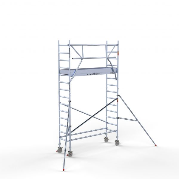 """AC Steigtechnik """"PRO-S 250"""" mit Montageschutzgeländer, Profi-Gerüst, von 4,3 – 10,3 Meter Arbeitshöhe, nach DIN EN 1004 & 1298"""