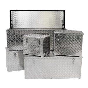 JUMBO Alu-Transportbox, Staubox, Truck-Box 120 Liter – 470 Liter