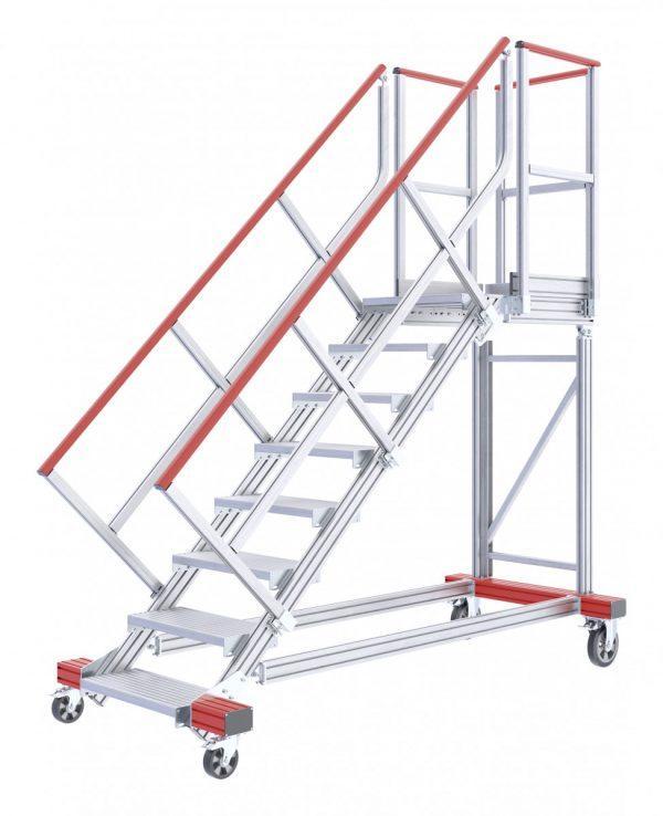 HYMER 2231 Fahrbare Plattformtreppe, Treppenneigung 45°