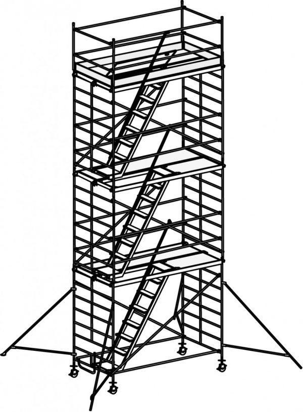 HYMER 6573 Treppen-Fahrgerüst mit Ausleger