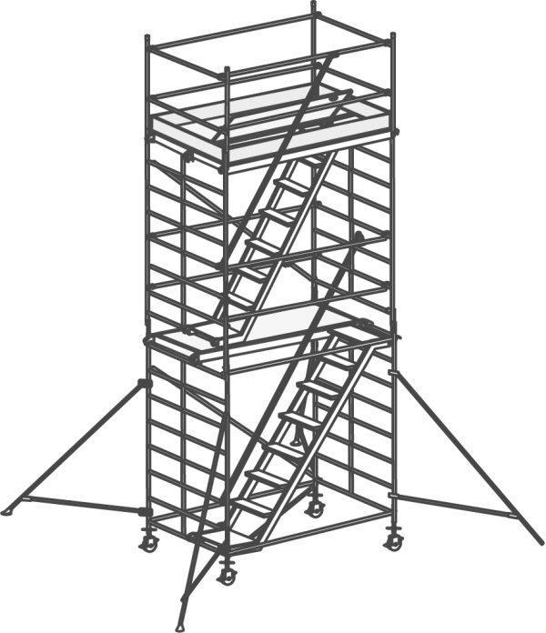 HYMER 6576 Treppen-Fahrgerüst mit Ausleger