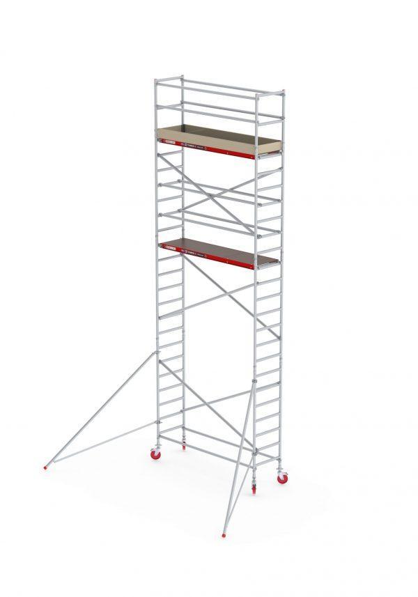 ALTREX RS TOWER 41 PLUS – Aluminium Fahrgerüst schmal 0.90 m – 4,20 m bis 10,20 m Arbeitshöhe – Plattform 185 cm
