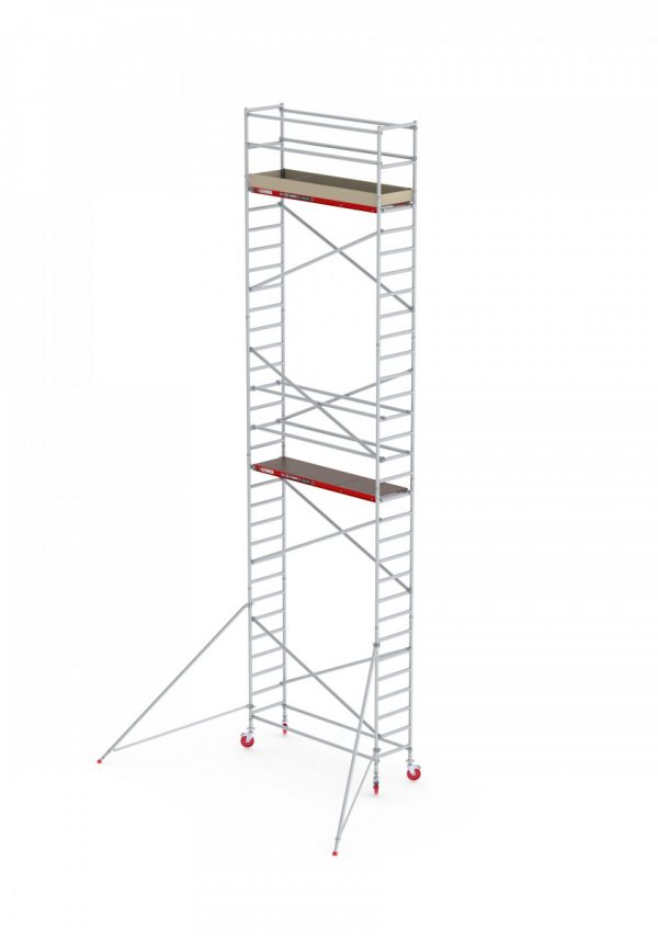 ALTREX RS TOWER 41 – Aluminium Fahrgerüst schmal 0.75 m – 4,20 m bis 10,20 m Arbeitshöhe – Plattform 185 cm