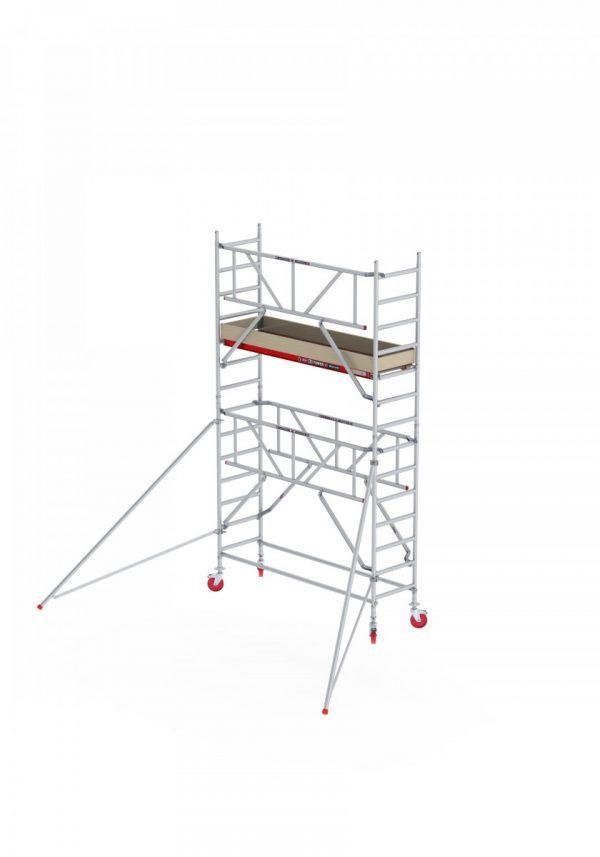 ALTREX RS TOWER 41 S – mit Quick-Safe 2 Geländer – Aluminium Fahrgerüst schmal 0.75 m – 4,20 m bis 10,20 m Arbeitshöhe – Plattform 185 cm
