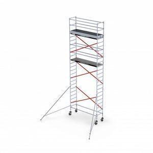 ALTREX RS TOWER 51 Plus – Aluminium Fahrgerüst schmal 0.90 m – 4,20 bis 10,20 m Arbeitshöhe – Plattform 185 cm