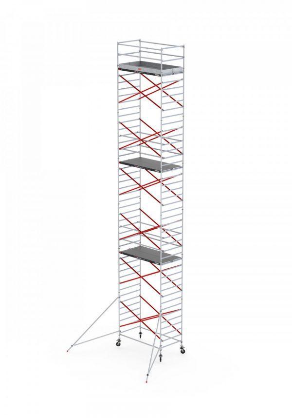 ALTREX RS TOWER 52 – Aluminium Fahrgerüst breit 1.35 m – 4,20 bis 14,20 m Arbeitshöhe – Plattform 185 cm