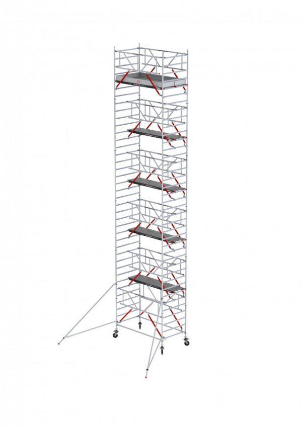 ALTREX RS TOWER 52-S mit Safe-Quick®2 Geländer – Aluminium Fahrgerüst breit 1.35 m – 4,20 bis 14,20 m Arbeitshöhe – 185 cm Plattform