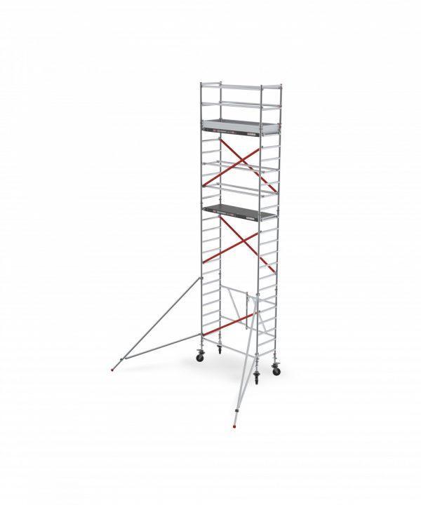 ALTREX RS TOWER 54-S mit Safe-Quick®2 Geländer – Aluminium Klappgerüst schmal 0.75 m – 4,80 bis 8,80 m Arbeitshöhe