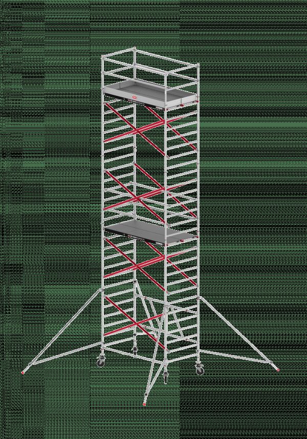 ALTREX TOWER 55 – Aluminium Klappgerüst – ausbaufähig – breit 1.35m – 3,00 m bis 13,80 m Arbeitshöhe – Plattform 185 cm