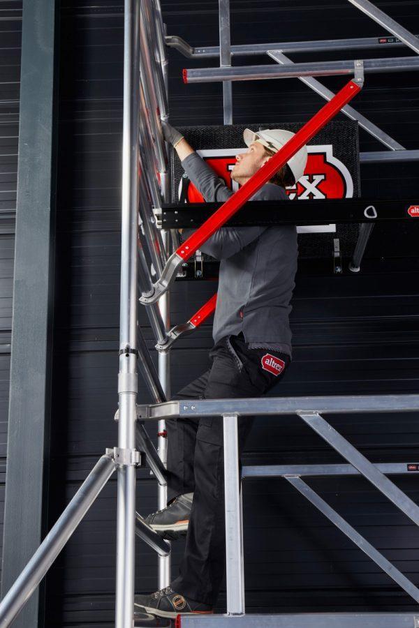 ALTREX Fahrgerüste RS TOWER 42-S mit Safe-Quick®2 Geländer – breit 1.35 m – 4,20 bis 14,20 m Arbeitshöhe – Plattform 185 cm
